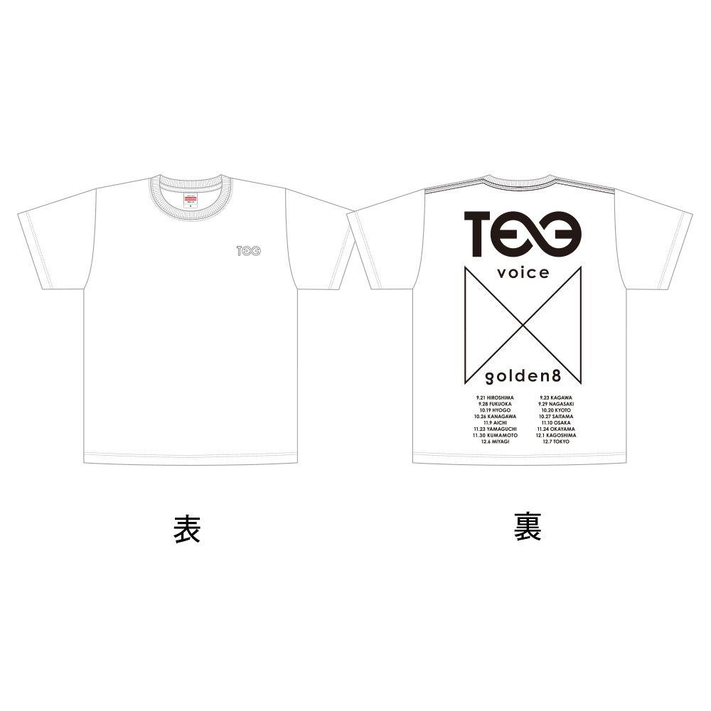 """VOICE × Golden8=∞"" ツアーT-Shirts(白)"