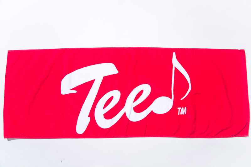TEE ロゴフェイスタオル(レッド×ホワイト)
