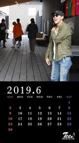 待受カレンダー 2019年6月