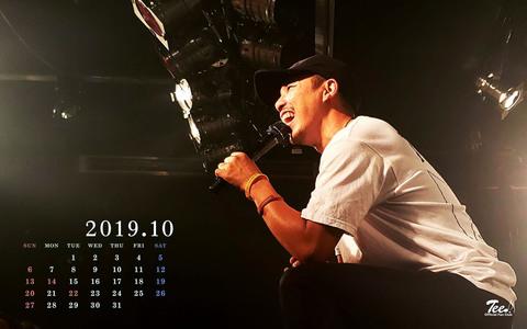 待受カレンダー 2019年10月