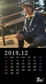 待受カレンダー 2019年12月