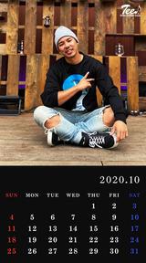 待受カレンダー 2020年10月