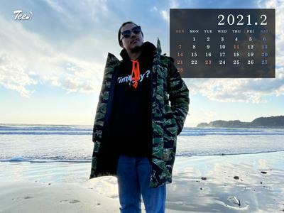 待受カレンダー 2021年2月