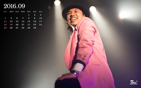 待受カレンダー 2016年9月