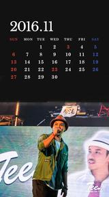 待受カレンダー 2016年11月