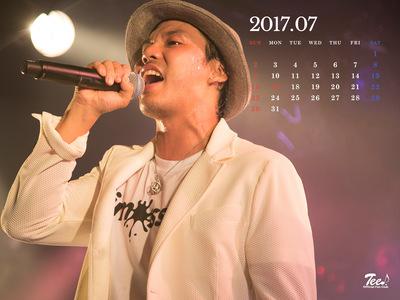 待受カレンダー 2017年7月