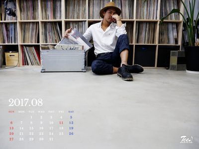 待受カレンダー 2017年8月