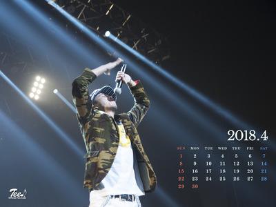 待受カレンダー 2018年4月