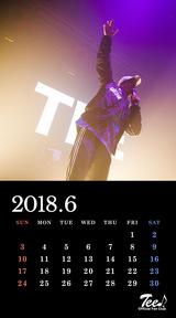 待受カレンダー 2018年6月
