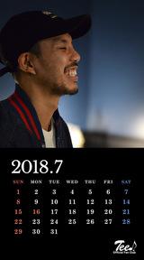 待受カレンダー 2018年7月