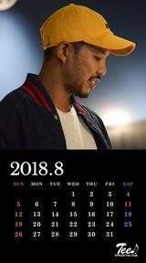 待受カレンダー 2018年8月