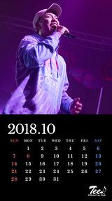 待受カレンダー 2018年10月
