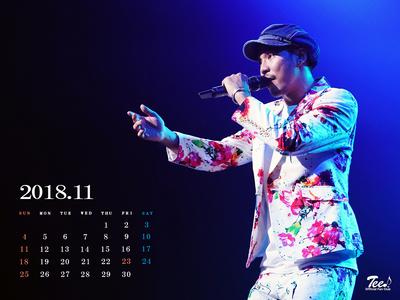 待受カレンダー 2018年11月