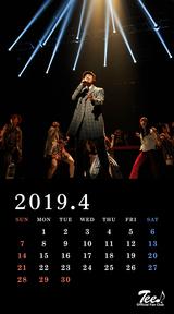 待受カレンダー 2019年4月